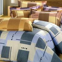 艾莉絲-貝倫 藍色情調(3.5呎x6.2呎)三件式單人(高級混紡棉)薄被套床包組(藍色)