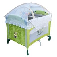 Babybabe 拱型遊戲床-全配款(高頂蚊帳/玩具架/雙層架/尿布檯)