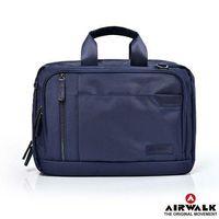 【美國 AIRWALK】移動城市多夾層手提斜背包(兩色)