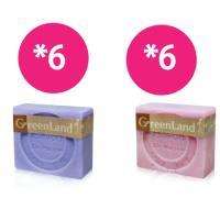 GreenLand 法式絲滑緊緻馬賽皂(12入綜合木盒組)