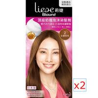 莉婕 頂級奶霜泡沫染髮劑 2古銅棕色(2入)