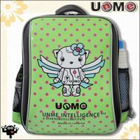 【UnMe】機器人圓點單層後背書包(綠色)