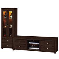 【時尚屋】[UZ6]吉星8尺胡桃L型電視櫃UZ6-220-7