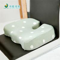 【格藍傢飾】水玉涼感舒壓護美臀墊-抹茶綠