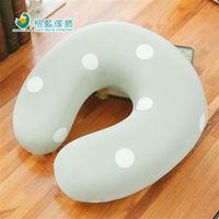 【格藍傢飾】水玉涼感舒壓護頸枕(小)-抹茶綠