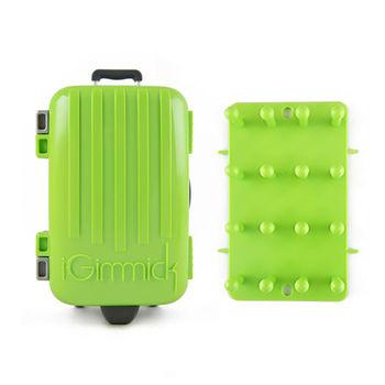 【iGimmick】3C線材收納盒 綠色行李箱-行動