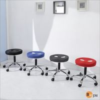 BuyJM  厚8公分成型泡棉座墊圓型鐵腳旋轉椅/美容椅/電腦椅