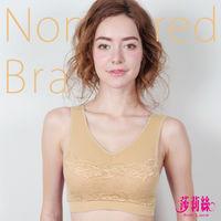 【莎莉絲】高彈力蕾絲抹胸舒適運動內衣/M-XL(氣質膚)
