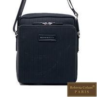Roberta Colum - 倫敦時尚紳士休閒配牛皮直式機能側背包