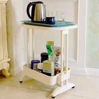 LIFECODE《悠活》二層可移動茶水桌/ 筆電桌/ 餐車