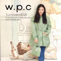 w.p.c抽繩收腰款 時尚雨衣/風衣(R9022)-草綠