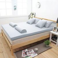 【輕鬆睡-EzTek】新雙層竹炭釋壓記憶床墊(雙人8cm 全平面)