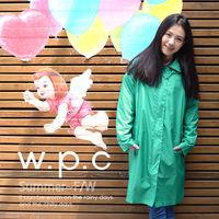 【w.p.c】率性修身款。時尚雨衣/風衣(R1039)_湖綠