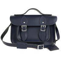 【The Leather Satchel Co.】11吋 英國手工牛皮可手提劍橋包 (湖泊藍)