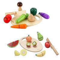 classic world 德國經典木玩 客來喜 蔬菜+水果切切樂超值組