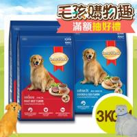 SmartHeart 慧心犬糧 成犬配方 狗飼料 牛肉3kg*2 / 雞肉+雞蛋3kg*2 (共4包)