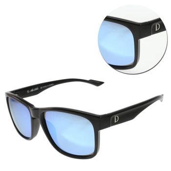 【ALAIN DELON 亞蘭德倫】偏光方形水銀藍色黑框太陽眼鏡(AD20336S-B1)