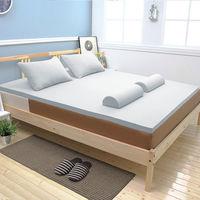 [輕鬆睡-EzTek]全平面竹炭感溫釋壓記憶床墊{雙人3cm}繽紛多彩2色