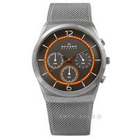 SKAGEN / SKW6135 / Melbye北歐丹麥耀眼紳士米蘭編織不鏽鋼手錶 鍍灰 40mm