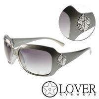 【Lover】精品方框墨銀色太陽眼鏡(9310-C03)