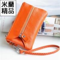【米蘭精品】鑰匙包男女皮套時尚多功能韓版手拿真皮7色