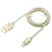 fujiei i6 Apple原廠認證 Lightning USB鋁合金充電傳輸線(1.2M)(土豪金)