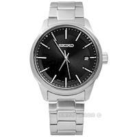 SEIKO 精工 / 7B24-0BJ0D.SBTM233J / SPIRIT極致簡潔美學太陽能電波不鏽鋼手錶 黑色 39mm