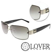 【Lover】精品金屬方框灰色太陽眼鏡(9121-C03)