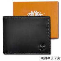 【Timberland】牛皮夾 多卡夾 品牌盒裝/黑色