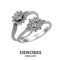 GIA鑽石超值特惠 D/VS1 0.30克拉八心八箭完美車工 奢華戒指款式二選一