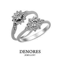 GIA鑽石超值特惠 D/VS2 0.30克拉八心八箭完美車工 奢華戒指款式二選一