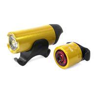 【D-Light】CG2312 鋁合金LED超高亮度前後警示燈組(台灣製)-烤漆金
