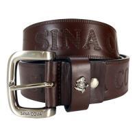 【SINA COVA】老船長品牌經典壓紋牛皮休閒皮帶 SC2251-3咖啡