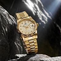 RN勞斯丹頓【6022MGD-5G珍藏39週年】金色石英男錶