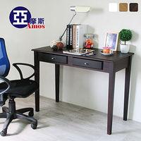 【Amos】古典雙抽100CM書桌/工作桌