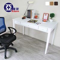 【Amos】古典三抽120CM書桌/工作桌