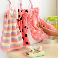 DF 生活趣館 - 可愛蝴蝶結珊瑚絨擦手巾毛巾-2入(隨機出貨)