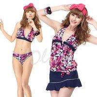 【聖手品牌】夏日亮麗彩繪風時尚四件式比基尼泳裝NO.A94403(現貨+預購)