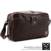 【AJ.亞介】 斜背包 皮革包 隨身包 多隔層設計-2色 (UE231)