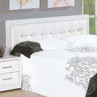 H&D 亞斯5尺白色水鑽雙人床頭片