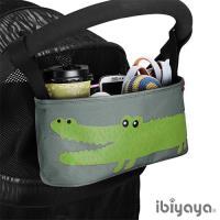 【IBIYAYA依比呀呀】嬰兒/寵物推車專用-多用途置物吊袋-灰鱷魚