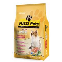 【FUSO Pets】主廚嚴選貓食-鮮鮭嫩蝦 飼料 1.5公斤 X 1包