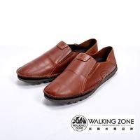 WALKING ZONE 英倫真皮自然風格開車鞋 男鞋-咖啡色(另有黑、棕)