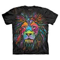 【摩達客】(預購)美國進口The Mountain 彩繪獅子 純棉環保短袖T恤
