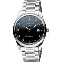 LONGINES Master 巨擘系列真鑽機械腕錶-黑/39mm L27934576