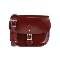 【The Leather Satchel Co.】英國原裝手工牛皮馬鞍包 肩背 側背手拿包 (浪漫紅-漆皮)