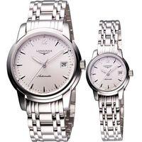 LONGINES Saint-Imier 機械對錶-銀/38+26mm L27634726+L22634726