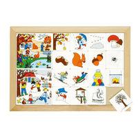 【華森葳兒童教玩具】益智邏輯系列-卡片分類遊戲-四季系列秋天與冬天 K5-522816