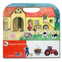 【BabyTiger虎兒寶】比利時 Egmont Toys 艾格蒙繪本風遊戲磁貼書 - 開心農場