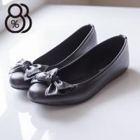 【88%】上班穿搭專櫃 圓頭平底包鞋 娃娃鞋 懶人鞋 甜美蝴蝶結 3色